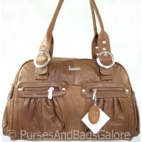 Shoulder / Slouch Bag Tan / Light Brown Leather by Lorenz