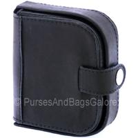 Lorenz Gents / Unisex Black Leather Wallet and Coin Tray